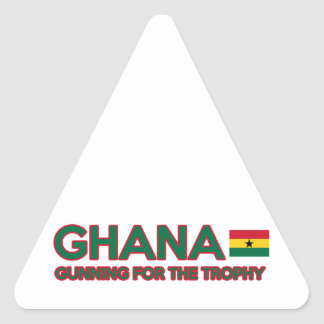 Ghana design triangle sticker