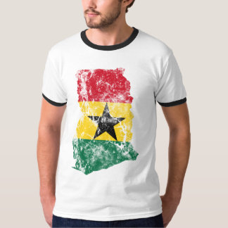 Ghana Distressed Flag T-Shirt
