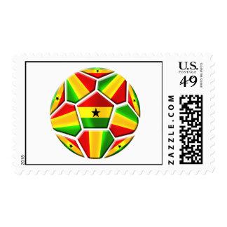 Ghana el negro protagoniza banderas ghanesas del timbre postal