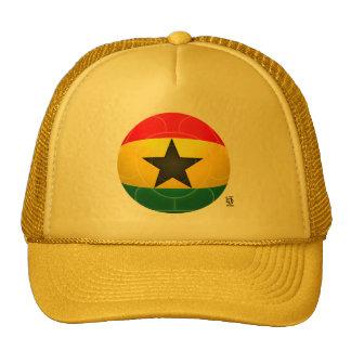 Ghana - el negro protagoniza fútbol gorros