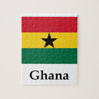 Ghana Flag And Name Jigsaw Puzzle