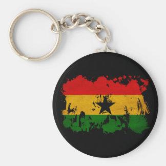 Ghana Flag Basic Round Button Keychain