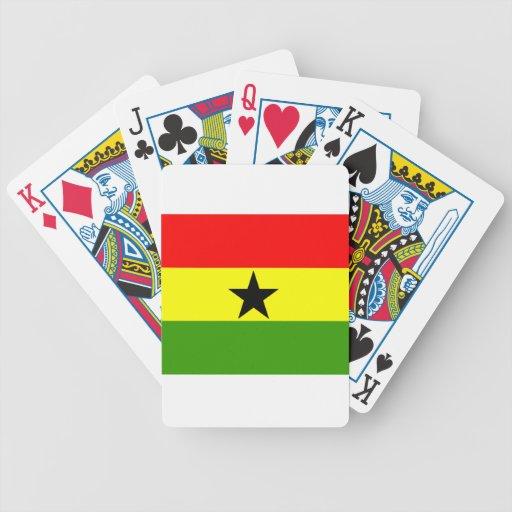 Ghana Flag Bicycle Playing Cards