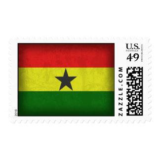 Ghana Flag Distressed Stamps