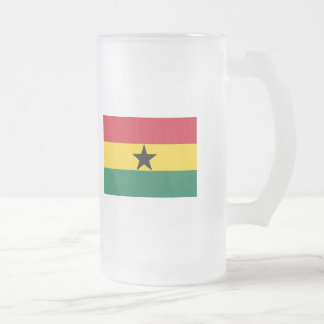 Ghana FLAG International Frosted Glass Beer Mug