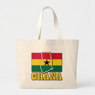 Ghana Flag Land Canvas Bags