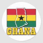Ghana Flag Land Classic Round Sticker