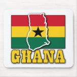 Ghana Flag Land Mouse Pad