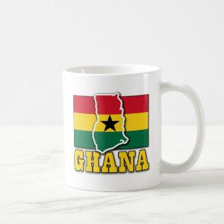 Ghana Flag Land Classic White Coffee Mug
