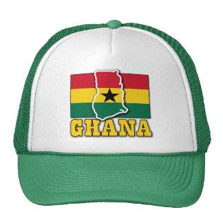 Ghana Flag Land Trucker Hat