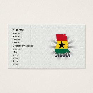 Ghana Flag Map 2.0 Business Card