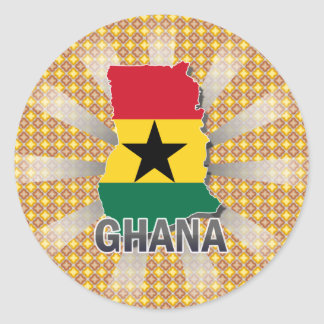 Ghana Flag Map 2 0 Round Stickers