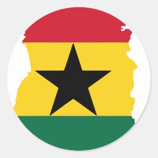 Ghana flag map classic round sticker
