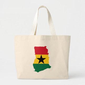 Ghana Flag Map full size Bags