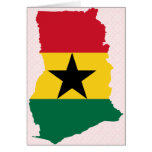 Ghana Flag Map full size Greeting Card