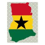 Ghana Flag Map full size Post Card