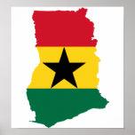 Ghana Flag Map full size Print