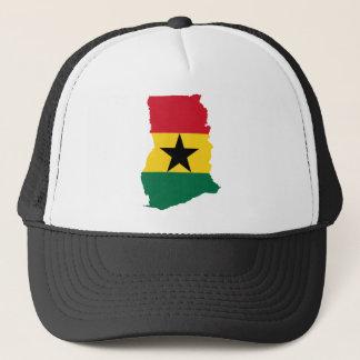Ghana Flag Map GH Trucker Hat