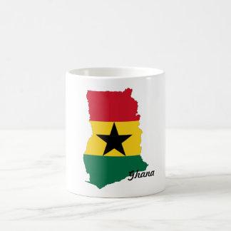 Ghana Flag Map Mug