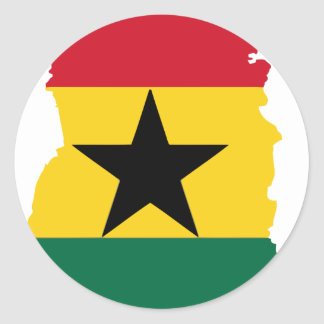 Ghana flag map stickers
