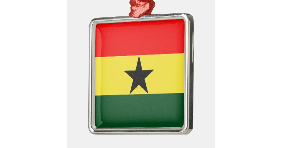 Decorations For Christmas In Ghana : Ghana flag metal ornament zazzle