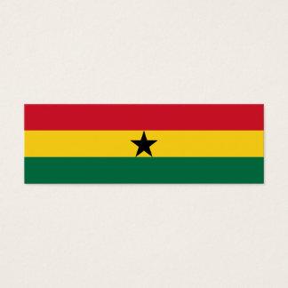 Ghana Flag Mini Business Card