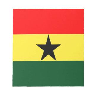 Ghana flag notepad