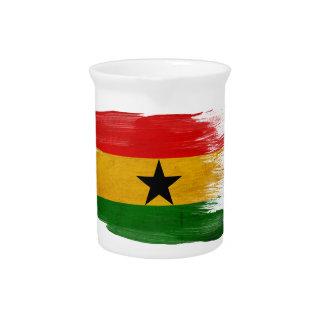 Ghana Flag Drink Pitcher