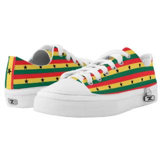 Ghana Flag -.png Low-Top Sneakers