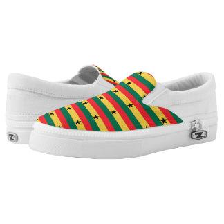 Ghana Flag -.png Slip-On Sneakers