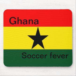 Ghana flag soccer fever mouse pad
