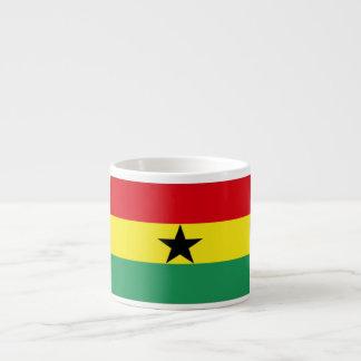 Ghana Flag 6 Oz Ceramic Espresso Cup