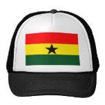 GHANA FLAG TRUCKING CAP TRUCKER HAT