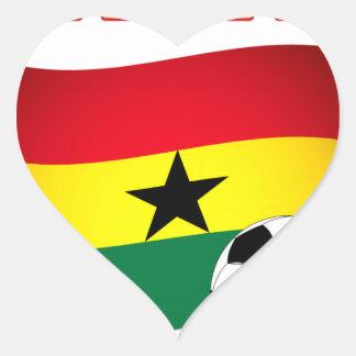 Ghana Football 1508 Heart Sticker
