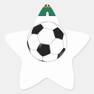 Ghana Football  2542 Star Sticker