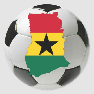 Ghana football soccer classic round sticker