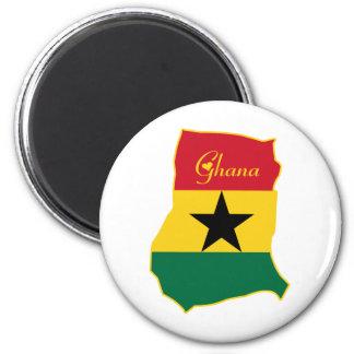 Ghana fresco imán redondo 5 cm
