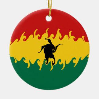 Ghana Gnarly Flag Ceramic Ornament