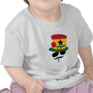 Ghana go Mustache Camisetas