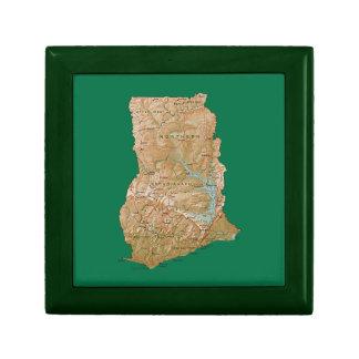 Ghana Map Gift Box