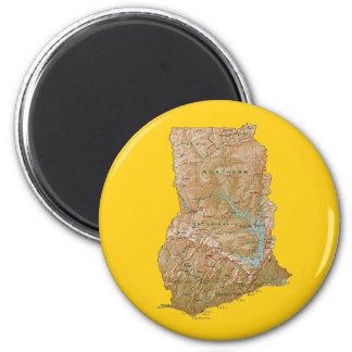 Ghana Map Magnet