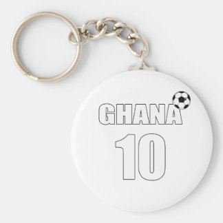 Ghana number 10 soccer players & coaches gear basic round button keychain