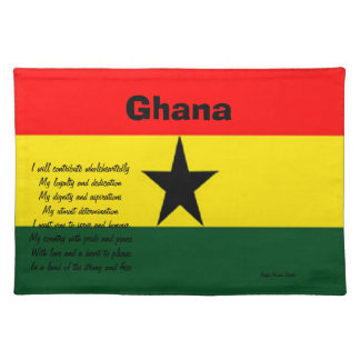 Ghana patrioctic placemats