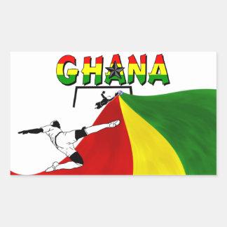 Ghana Pegatina Rectangular