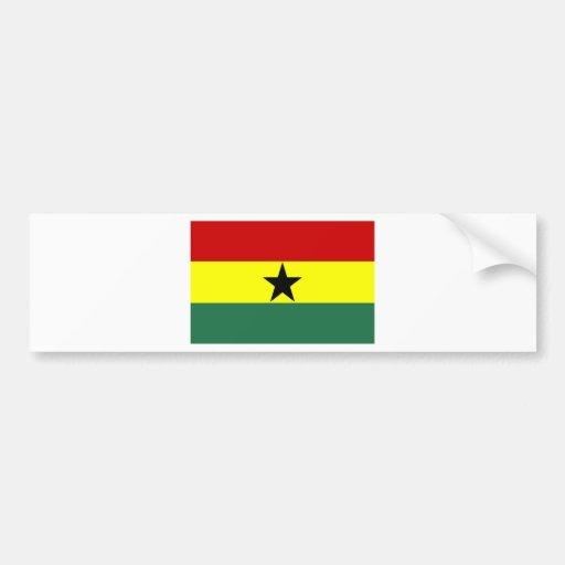 Ghana Pegatina De Parachoque