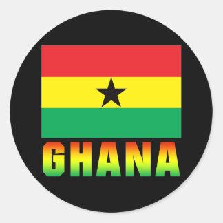 Ghana Pegatina Redonda