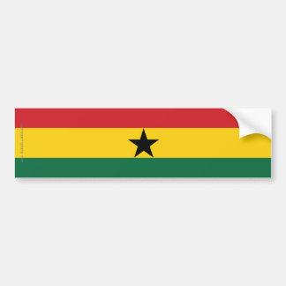 Ghana Plain Flag Bumper Sticker