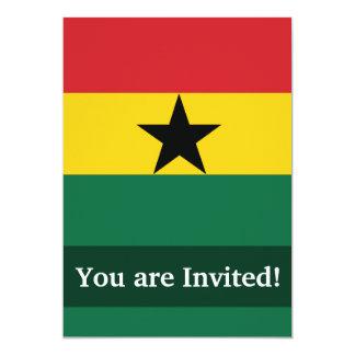Ghana Plain Flag Card