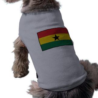 Ghana Plain Flag Doggie Tshirt