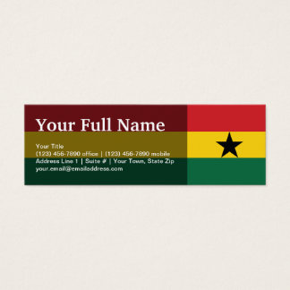 Ghana Plain Flag Mini Business Card